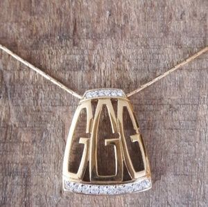 Vintage Givenchy Gold and Crystal Necklace
